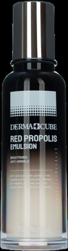 FARMSTAY Эмульсия питательная с прополисом и гибискусом / DERMA CUBE RED PROPOLIS 140 мл
