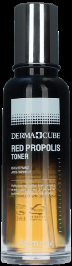 FARMSTAY Тонер питательный с прополисом и гибискусом / DERMA CUBE RED PROPOLIS 140 мл