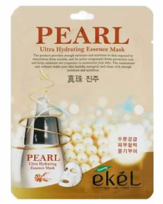 Тканевая маска для лица с жемчугом EKEL Pearl Ultra Hydrating Essence Mask 25г