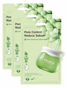 Себорегулирующая тканевая маска с зеленым виноградом Frudia Green Grape Pore Control Mask 20мл*3шт