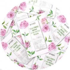 НАБОР Масок тканевых с экстрактом чайного дерева и розы Petitfee Tea Tree Rose Calming Mask 25г*10