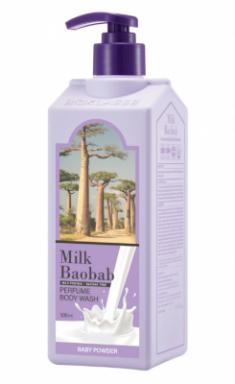 Гель для душа с ароматом детской присыпки Milk Baobab Perfume Body Wash Baby Powder 500 мл