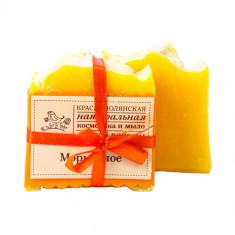Краснополянская косметика Мыло ручной работы Морковное, из свежевыжатого сока моркови 110 г
