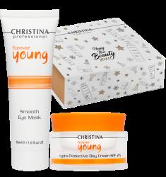 CHRISTINA Набор Совершенство молодости (дневной крем 50 мл, маска для кожи вокруг глаз 50 мл, коробка-пенал) Forever Young