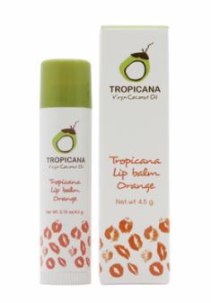 Бальзам для губ АПЕЛЬСИНОВЫЙ АРОМАТ TROPICANA Lip balm Orange 4,5г
