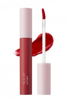 Жидкая матовая помада The Saem True Fit Lip Coat RD01 Chic Crush