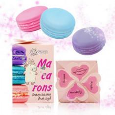 Бизорюк, Набор из трех бальзамов для губ Macarons, розовый БИЗОРЮК