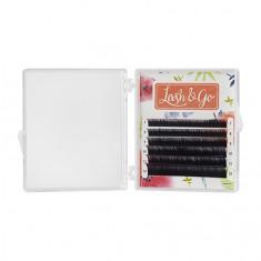 Lash&Go, Ресницы «Омбре» на ленте 0,10/7-12 мм, C-изгиб, фиолетовые