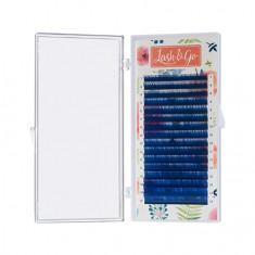 Lash&Go, Ресницы «Омбре» на ленте 0,10/7-14 мм, D-изгиб, синие