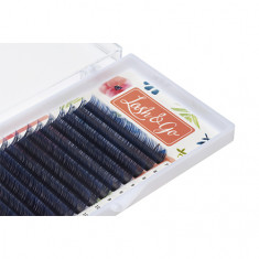 Lash&Go, Ресницы «Омбре» на ленте 0,07/8-13 мм, D-изгиб, синие