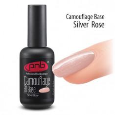 PNB База каучуковая камуфлирующая серебристо-розовая / Camouflage Base PNB UV/LED, Silver Rose 17 мл