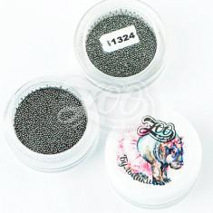 Zoo Nail Art, Бульонки металлические, черные, 0,6 мм