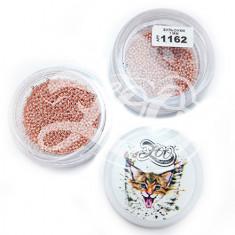 Zoo Nail Art, Бульонки металлические, розовые, 1 мм