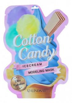 Моделирующая двуступенчатая маска с ароматом сахарной ваты U:Lindsay Cotton Candy Ice Cream Modeling Mask 50г+5г