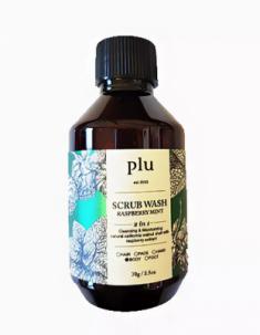 Скраб-гель для душа малина и мята PLU Scrub wash raspberry mint 70г