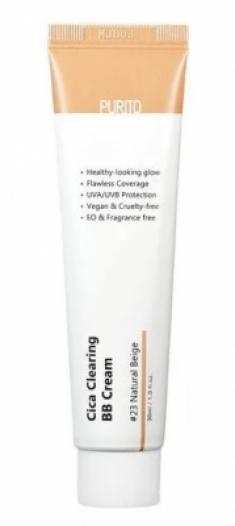 BB-крем для чувствительной кожи с экстрактом центеллы Purito Cica clearing BB cream #23 Natural Beige 30мл