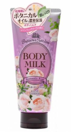 Молочко для тела питательное с ароматом розы Kose Precious garden body milk rose 200г