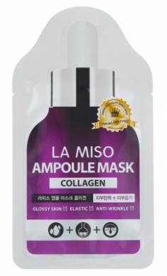 Маска ампульная с коллагеном La Miso Ampoule mask collagen 25г