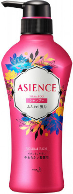 Шампунь для упругости волос KAO Asience soft elasticity type shampoo 450мл