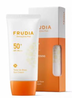 Крем-праймер солнцезащитный с жемчужной пудрой Frudia Tone up base sun cream SPF50+ PA+++ 50мл